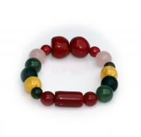 Handmade  5  Elements Jewelry:  Bracelet - Fire - China Red