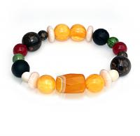 Handmade 5 Elements Jewelry: Bracelet – Element: Metal – Gold -Yellow