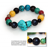 Handmade 5 Elements Jewelry: Bracelet - Water - Bermuda Blue
