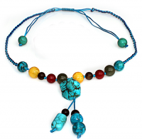 Handmade 5 Elements Jewelry: Necklace - Water -Bermuda Blue
