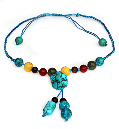 Handmade 5 Elements Jewelry: Necklace – Water -Bermuda Blue