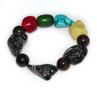 Handmade  Elementals Jewelry: Bracelet – Earth – Chestnut Brown