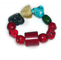 Handmade  Elementals Jewelry:  Bracelet – Fire -China Red