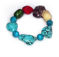Handmade Elementals Jewelry: Bracelet – Water -Bermuda Blue