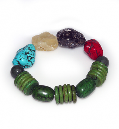 Handmade Elementals Jewelry: Bracelet – Element: Wood – Forest Green