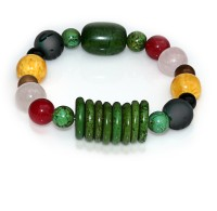 Handmade 5 Elements Jewelry: Bracelet – Element: Wood – Forest Green