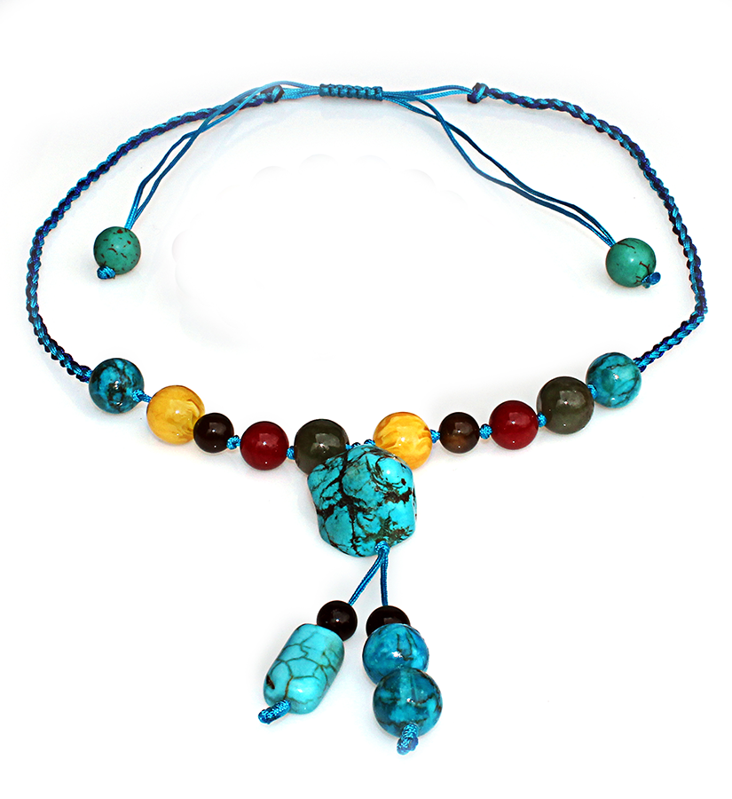 Handmade 5 elements jewelry necklace water bermuda blue unique handmade 5 elements jewelry necklace water bermuda blue mozeypictures Image collections