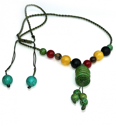 Handmade 5 Elements Jewelry: Necklace – Element: Wood – Forest Green